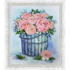 """РТ-166 """"Розы в ведерке"""" по мотивам картины Е.Вавилиной"""