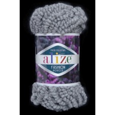 "Пряжа ""ALIZE FASHION BOUCLE"" 21 серый"